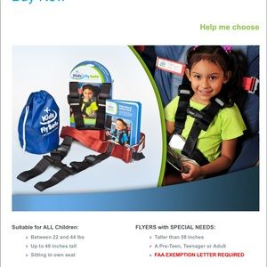 CARES Kids Fly Safe Portable Airplane Restraint